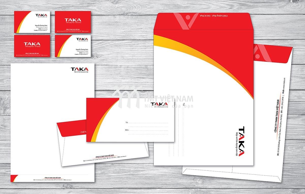 Bộ nhận diện thương hiệu TAKA