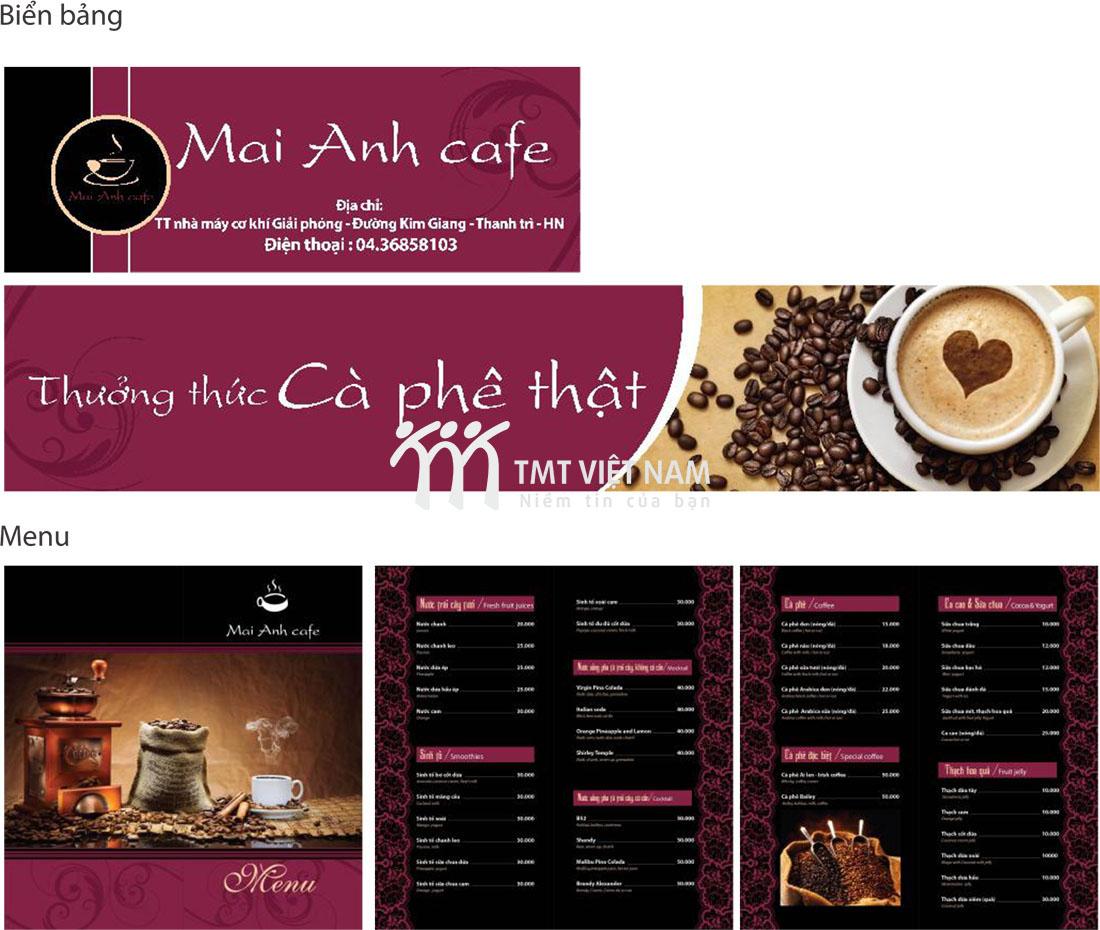 Menu Mai Anh Cafe