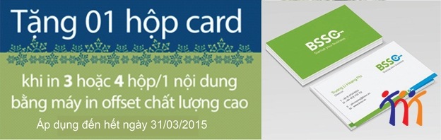 In hộp card Visit