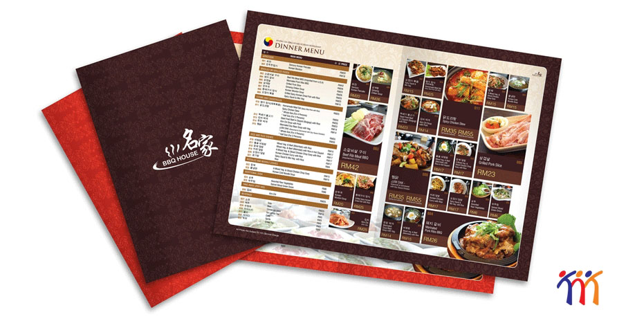 Thiết kế menu, order nhà hàng