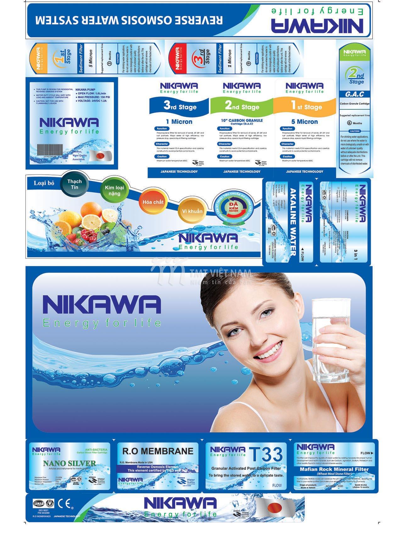 Tem máy lọc nước NIKAWA