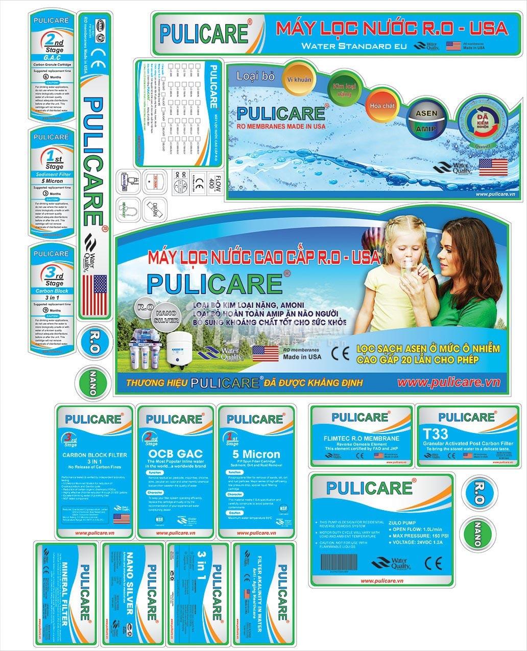 Tem máy lọc nước Pulicare