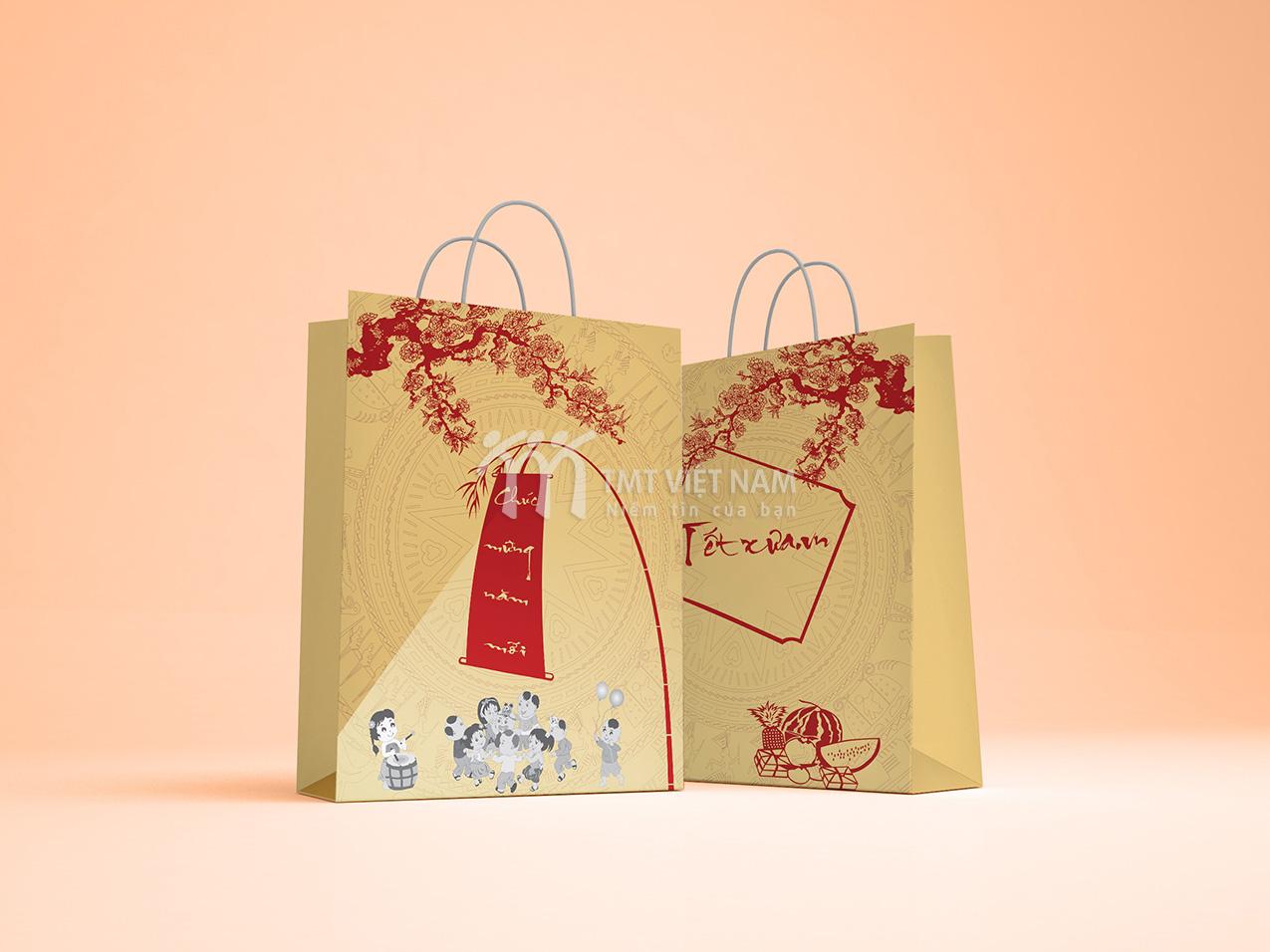 Sản phẩm túi giấy - túi đựng quà tết