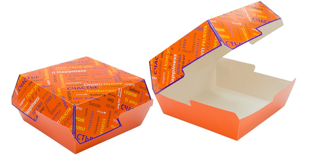 in hộp giấy đựng thức ăn nhanh