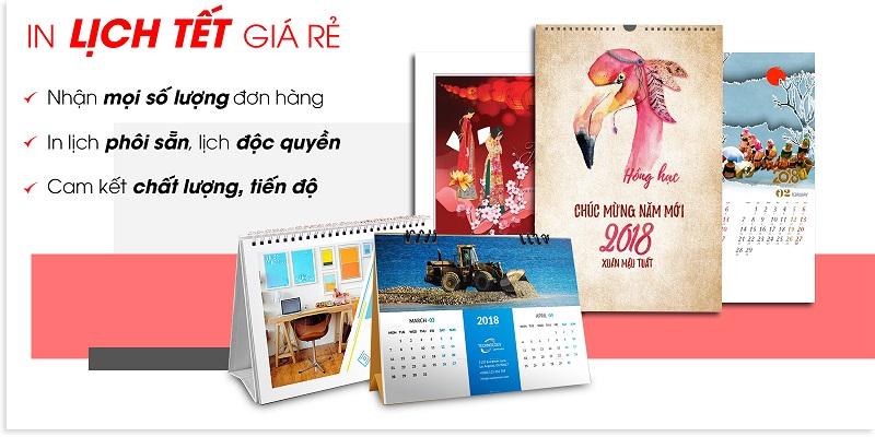 Nhận in lịch tết tại Hà Nội giá rẻ 2019