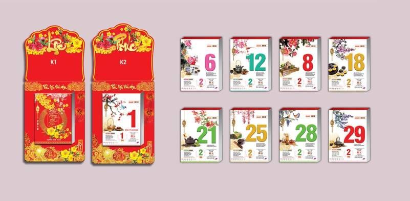 Nhận in lịch tết tại Hà Nội, in lịch các loại giá rẻ nhất