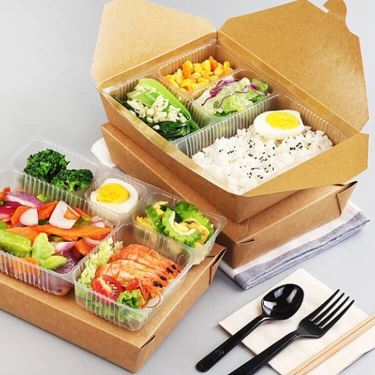 in hộp giấy đựng thức ăn