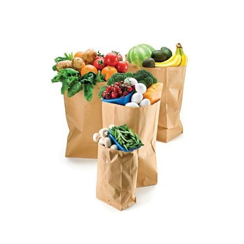 In túi giấy đựng thực phẩm sạch.