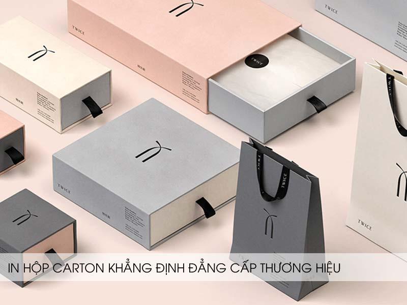 in hộp carton giúp nâng cao giá trị thương hiệu