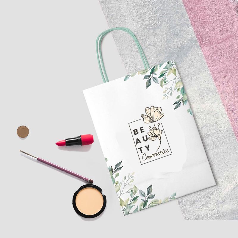 Túi giấy đựng mỹ phẩm xinh xắn