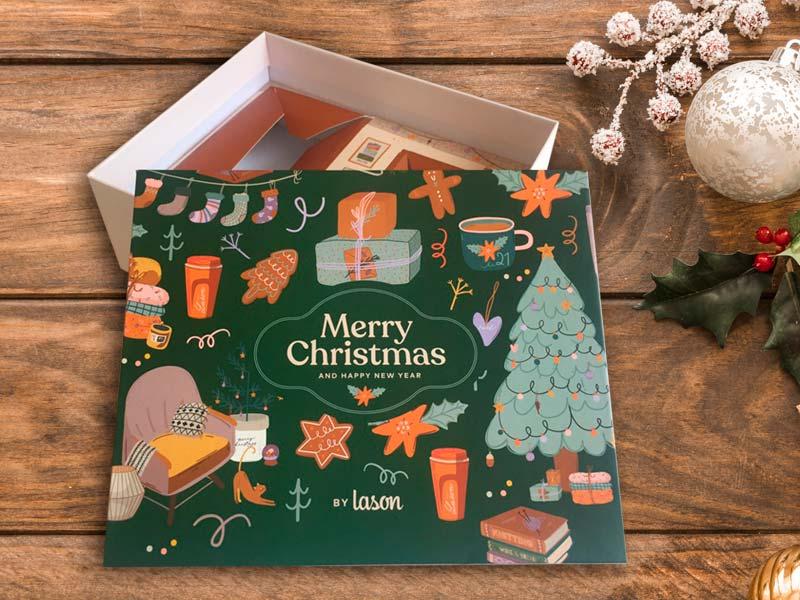 hộp cứng đựng quà Noel