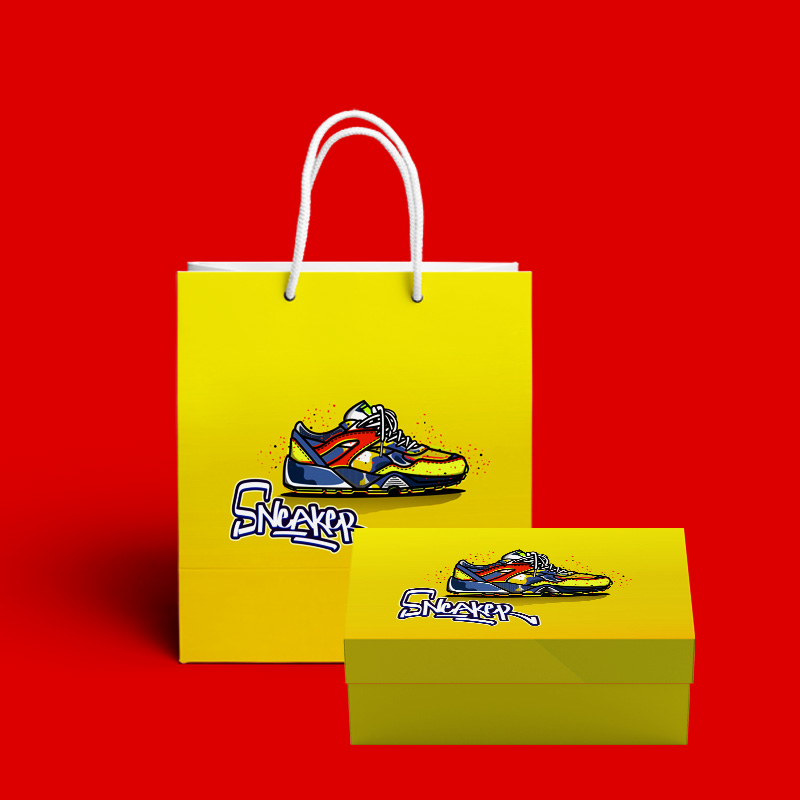 bộ hộp, túi giấy đựng giày