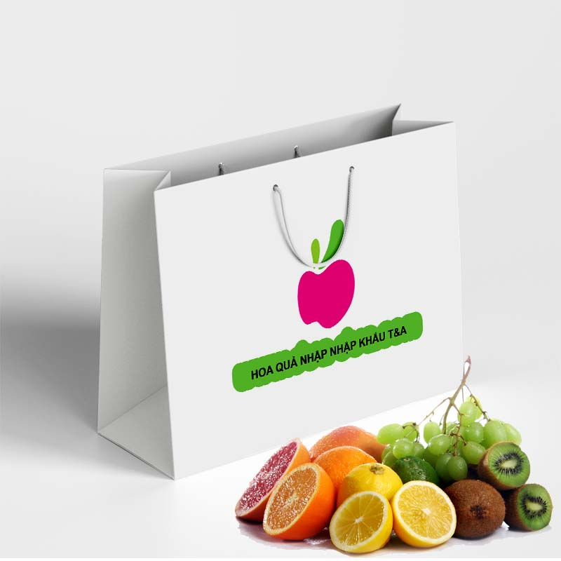 in túi giấy đựng hoa quả