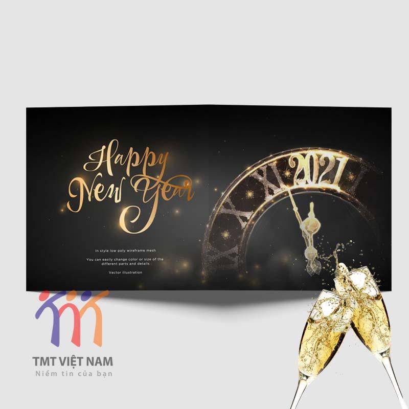 thiệp chúc mừng năm mới sang trọng