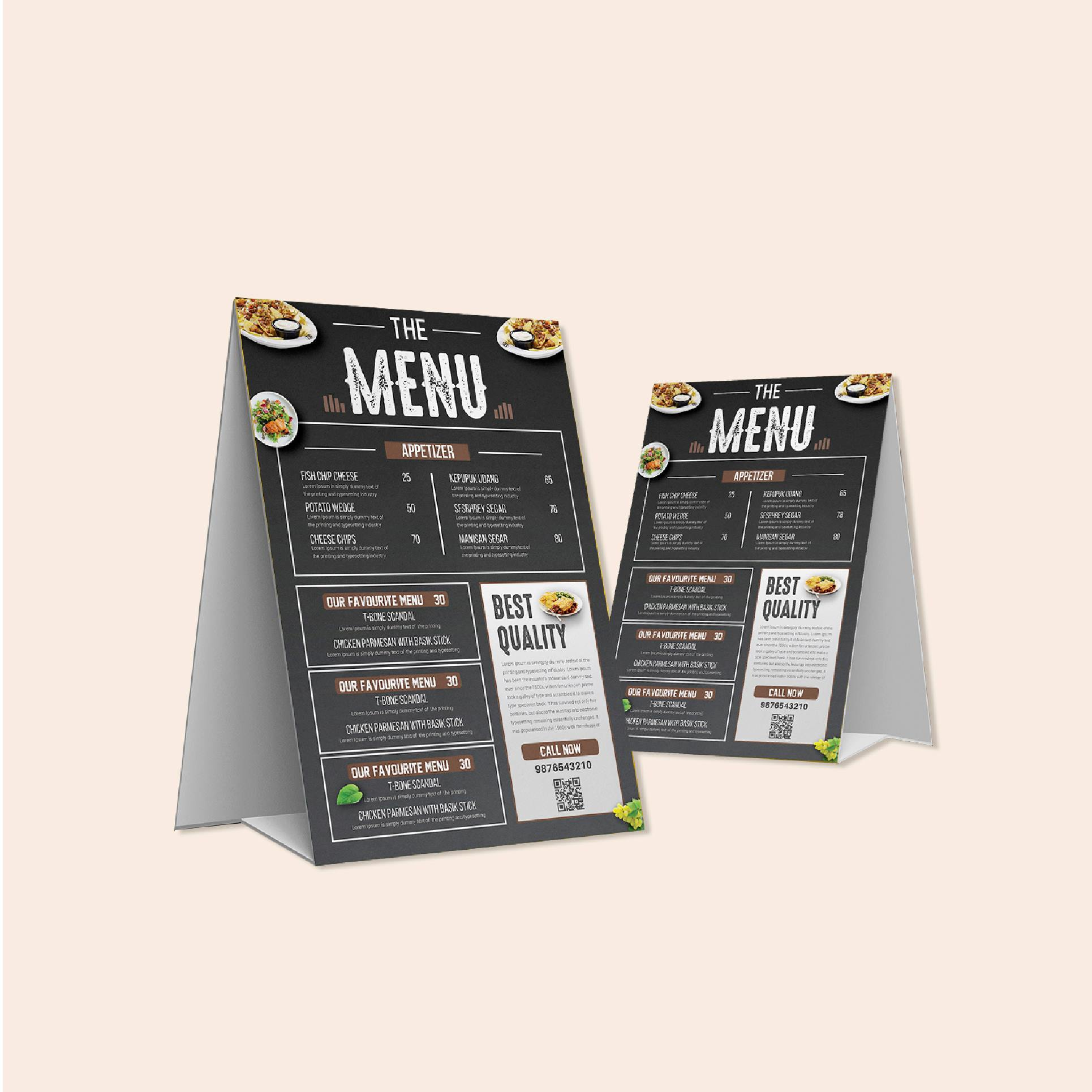 in menu để bàn giá rẻ chất lượng