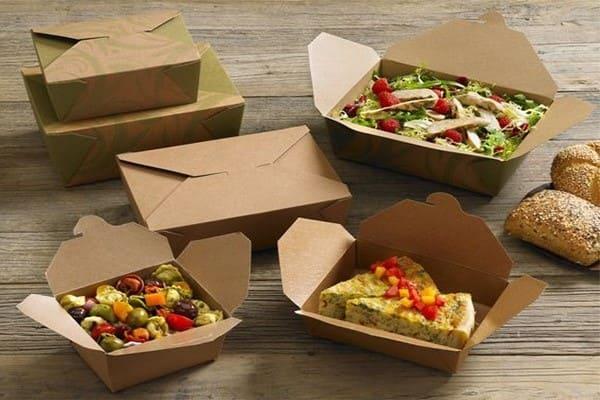 Mẫu hộp giấy đựng thức ăn ấn tượng