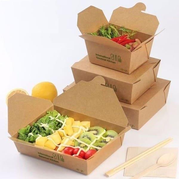 Mẫu hộp giấy đựng thức ăn nhanh an toàn thực phẩm