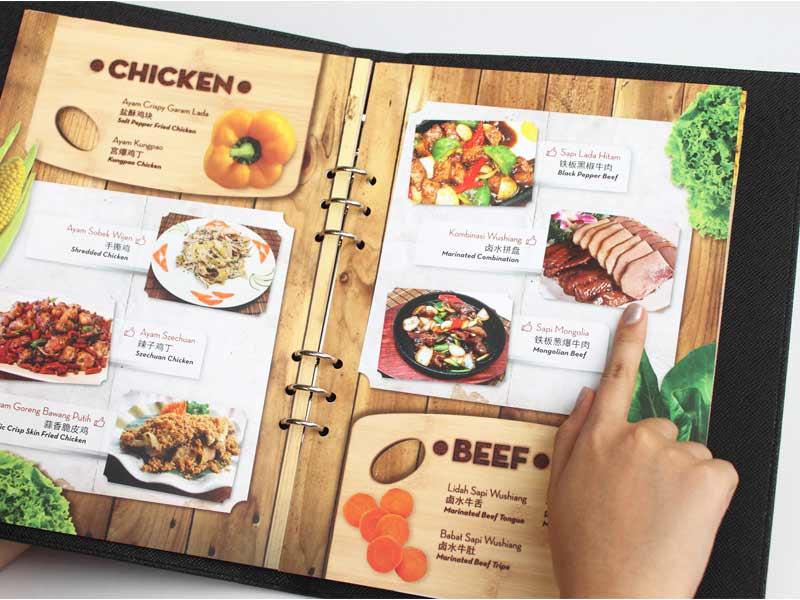 thiết kế in ấn thực đơn nhà hàng sang trọng tinh tế