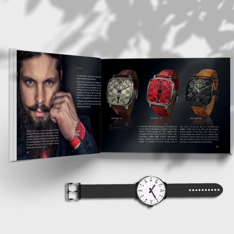 Mẫu thiết kế Catalogue đồng hồ nam