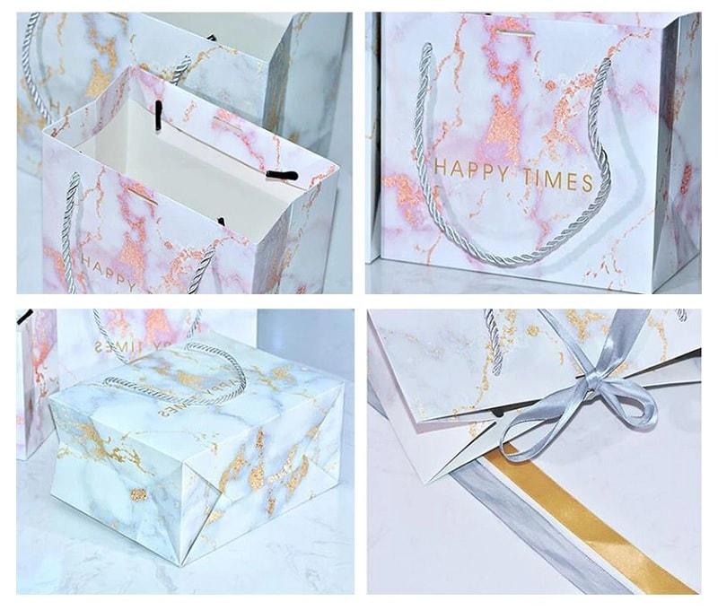 mẫu túi giấy đựng quà ép kim loại đẹp tinh tế