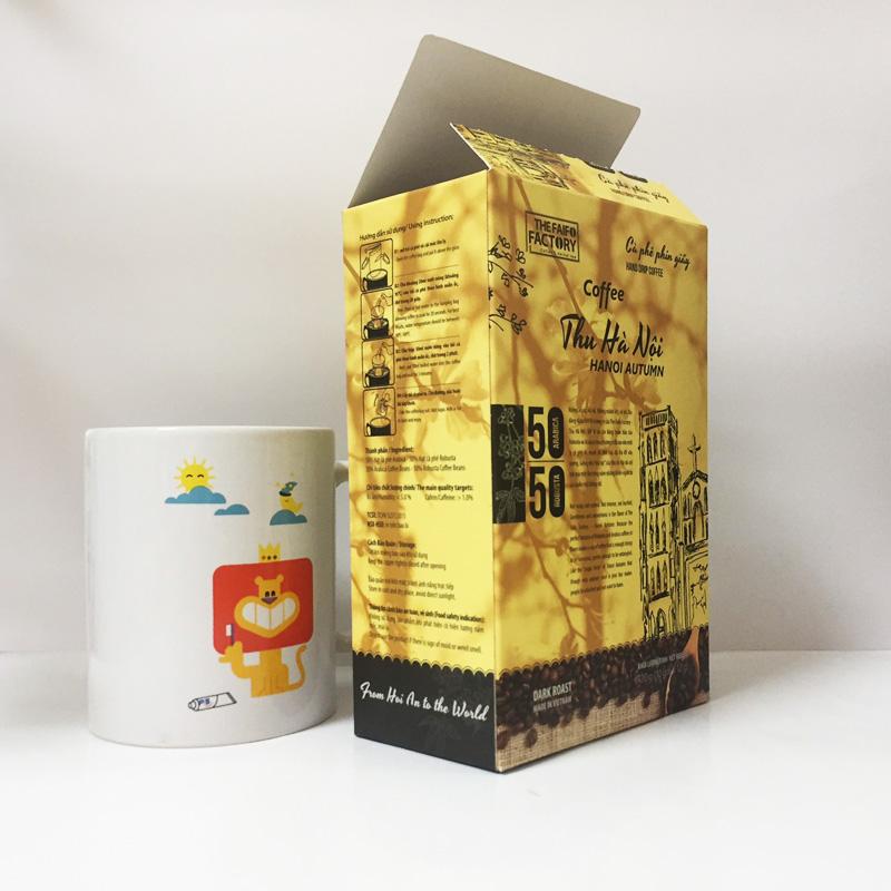 Hộp giấy nắp dán đựng cà phê