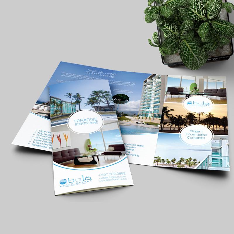 tờ gấp 3 dịch vụ resort