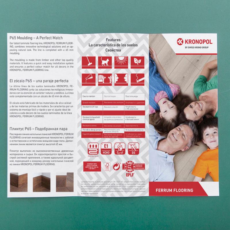 mẫu tờ gấp 3 sản phẩm sàn gỗ