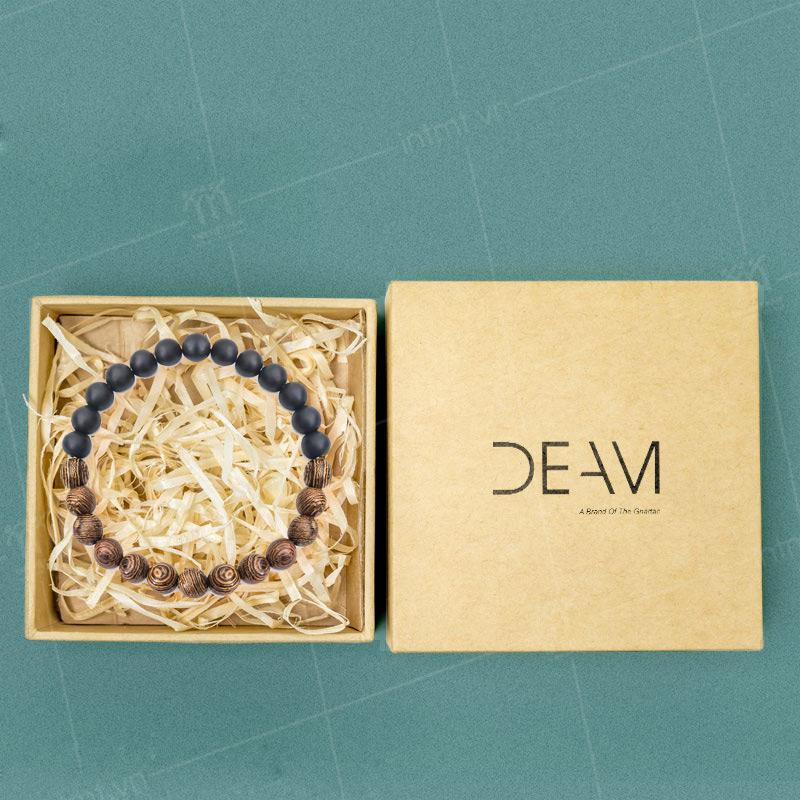 mẫu hộp đựng vòng tay có giấy vụn bên trong