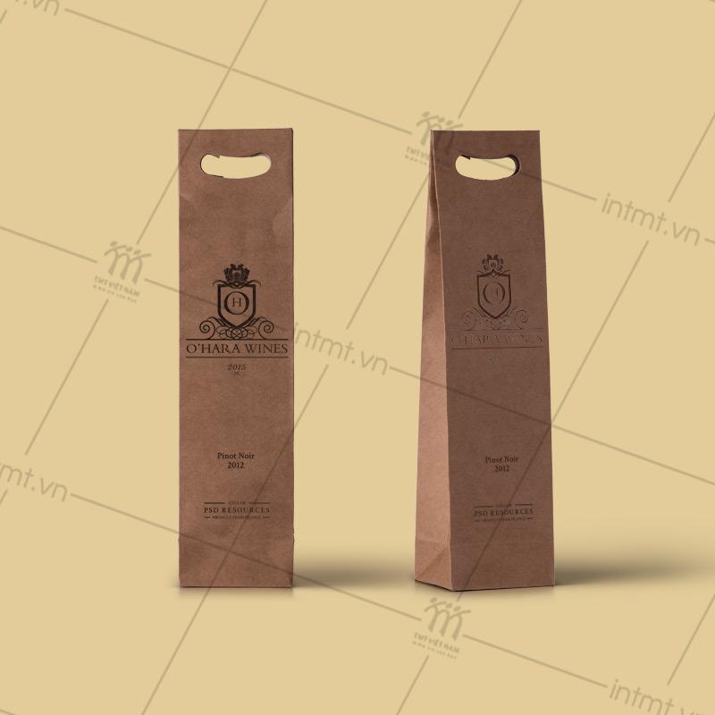 túi giấy Kraft đựng rượu vang