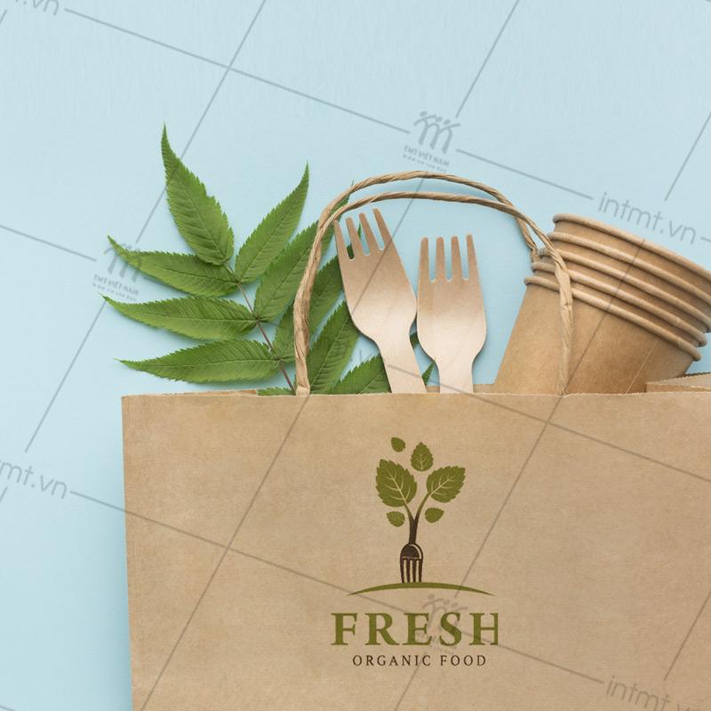 túi giấy kraft đựng thực phẩm sạch