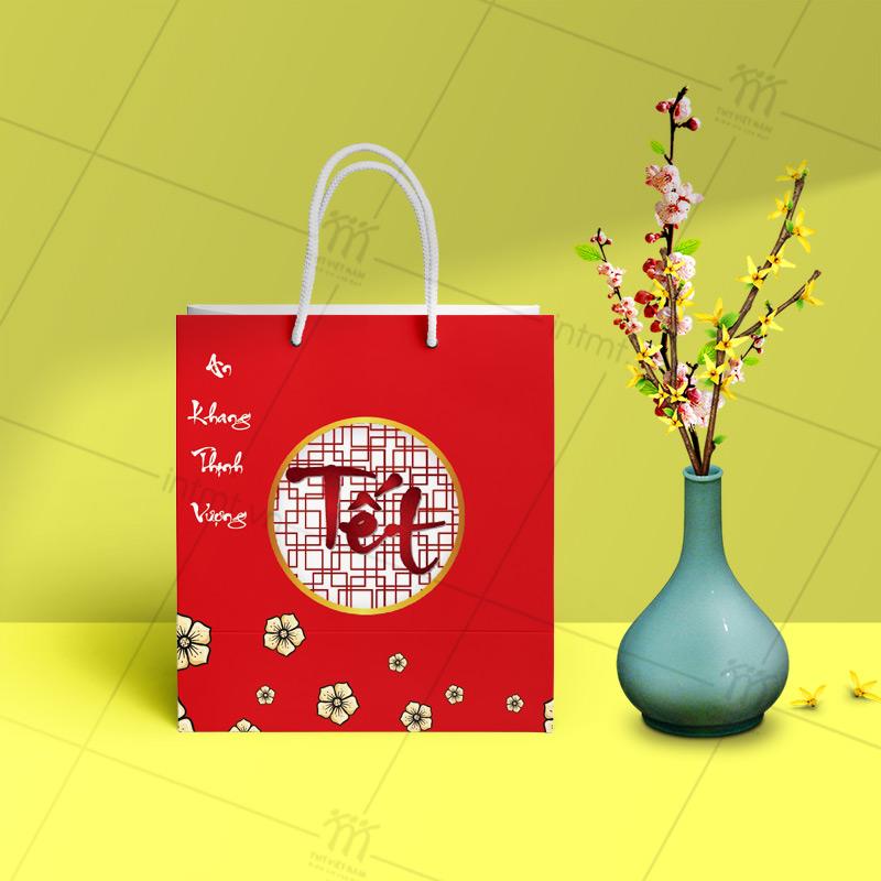 Túi đựng quà tết có sẵn an khang